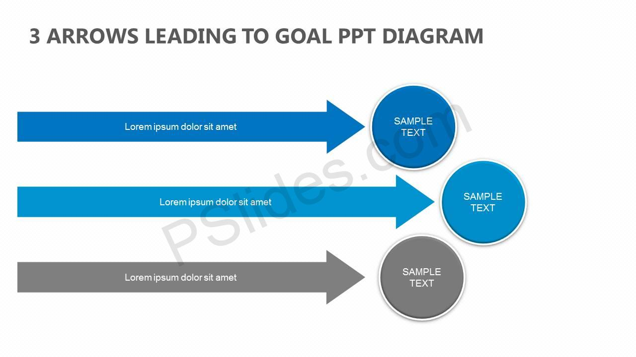3-Arrows-Leading-to-Goal-PowerPoint-Diagram-Slide1