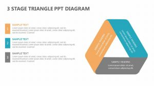 3 Stage Triangle PPT Diagram
