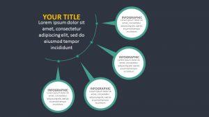 4 Stage Circular Agenda PPT Slide