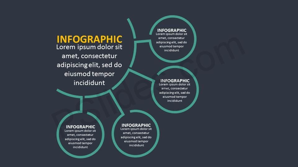 4-Stage-Hub-and-Spoke-PPT-Diagram-Slide1