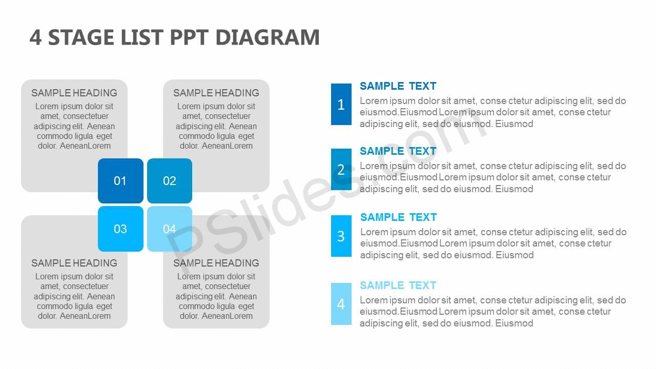 4-Stage-List-PowerPoint-Diagram-Slide1