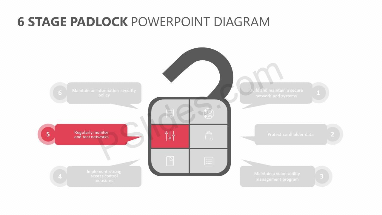 6-Stage-Padlock-PowerPoint-Diagram-Slide2