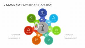 7 Stage Key PowerPoint Diagram