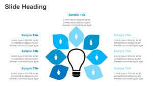 7 Step Light bulb PowerPoint Diagram