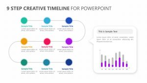 9 Step Creative Timeline for PowerPoint