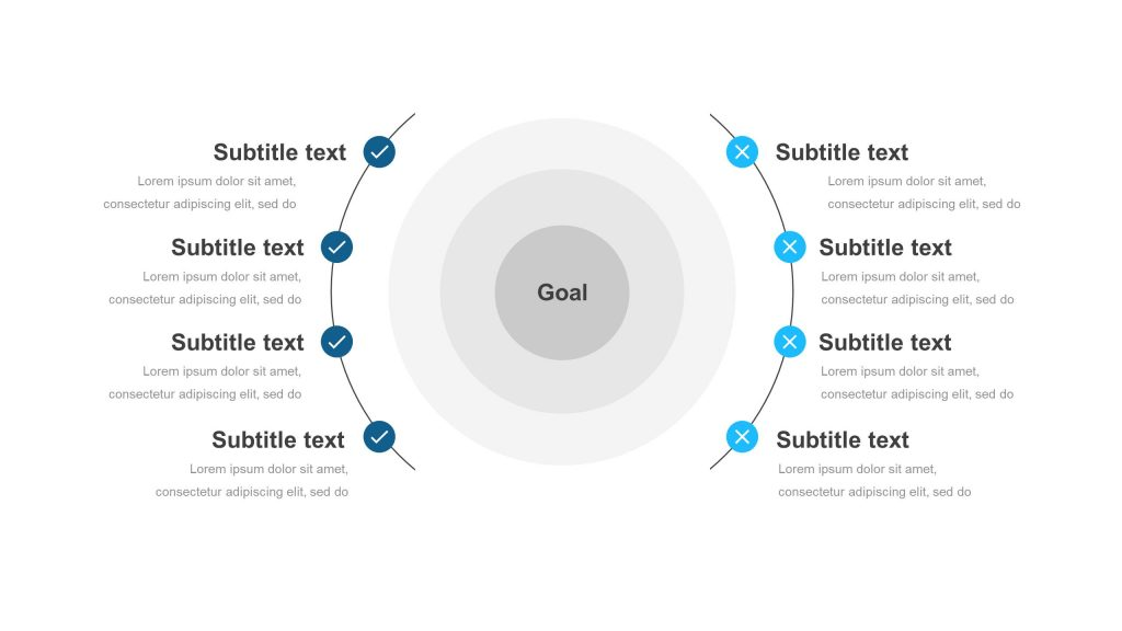 business goals powerpoint diagram