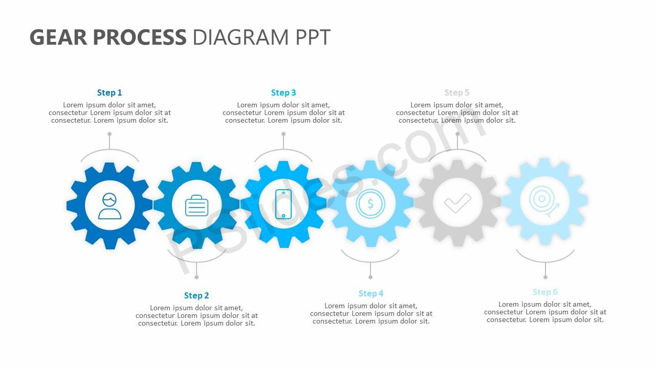 Gear-Process-Diagram-PPT-Slide1