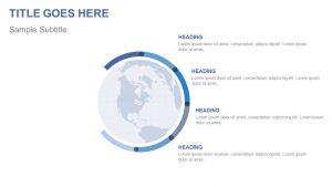 Globe PowerPoint List Diagram