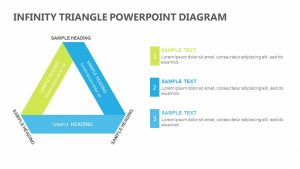 Infinity Triangle PowerPoint Diagram with Text Boxes