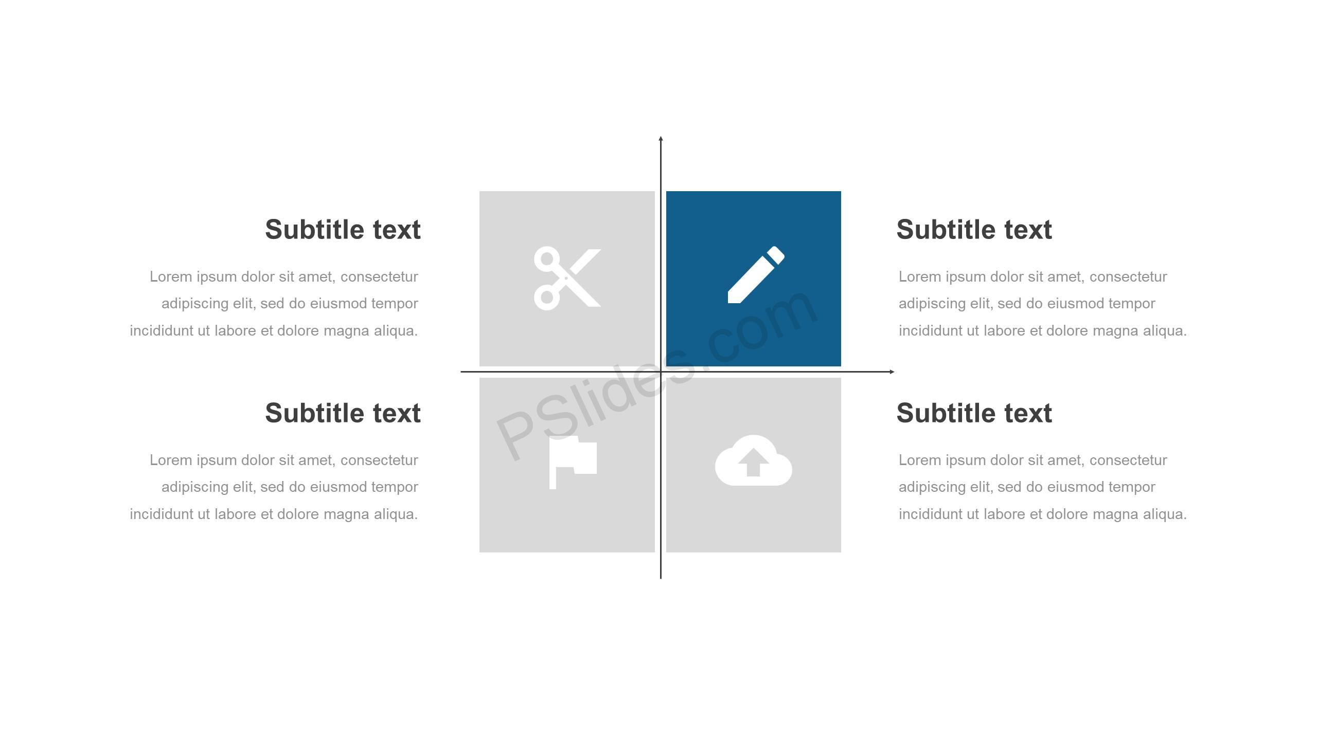 PowerPoint-Matrix-with-Icons-Slide1