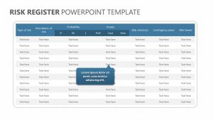 Risk Register PowerPoint Template