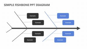 Simple Fishbone PPT Diagram