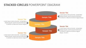 Stacked Circles PowerPoint Diagram