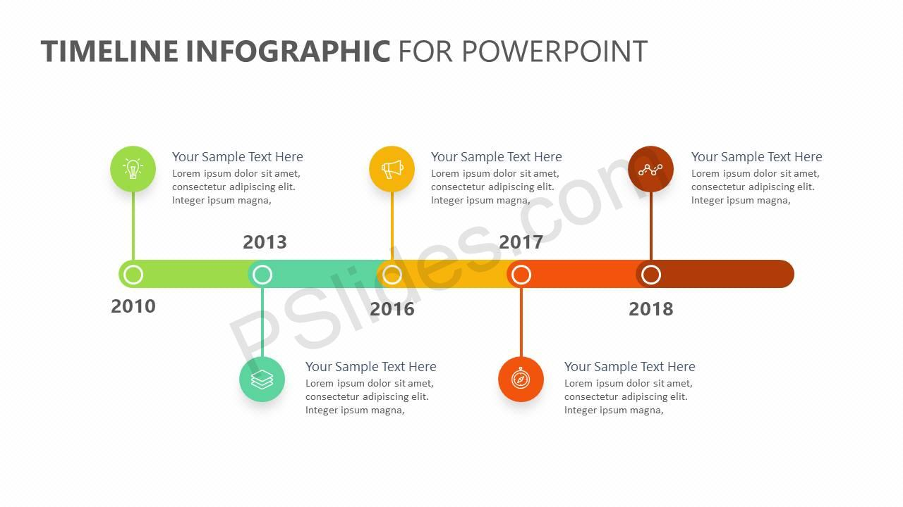 timeline infographic powerpoint timeline pslides