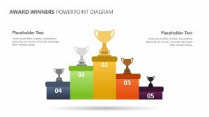 Award Winners PowerPoint Diagram