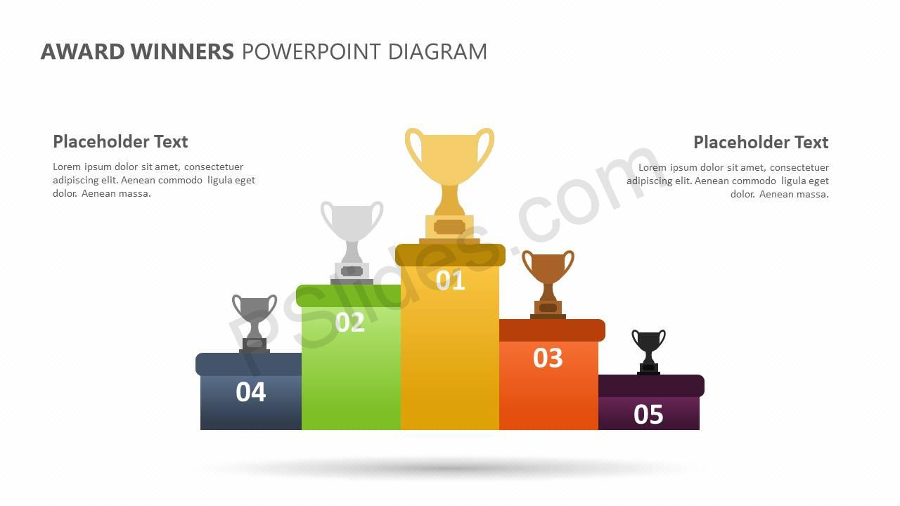 Award Winners Powerpoint Diagram Pslides