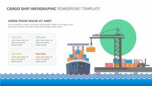 Cargo Ship Infographic PowerPoint Template