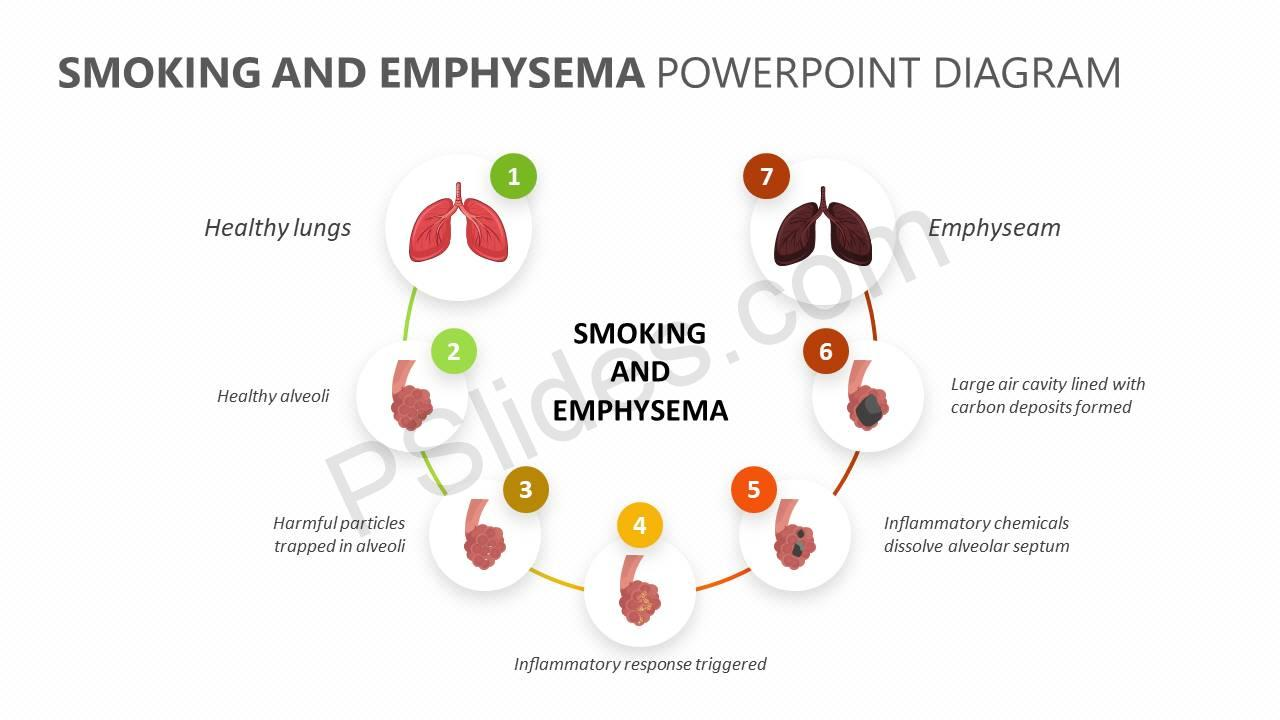 Smoking-and-Emphysema-PowerPoint-Diagram-Slide1