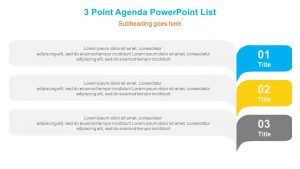3 Point Agenda PowerPoint List