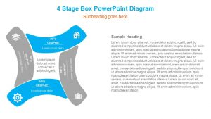 4 Stage Box PowerPoint Diagram