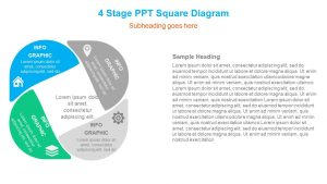 4 Stage PPT Square Diagram