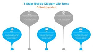 5 Stage Bubble Diagram with Icons