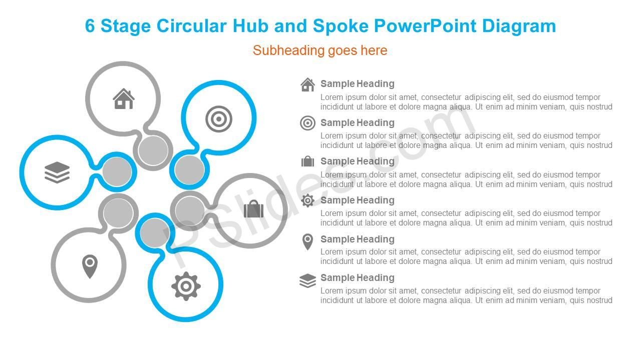 6-Stage-Circular-Hub-and-Spoke-PowerPoint-Diagram-Slide1