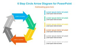 6 Step Circle Arrow Diagram for PowerPoint