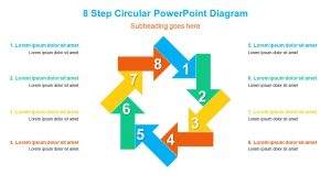 8 Step Circular PowerPoint Diagram