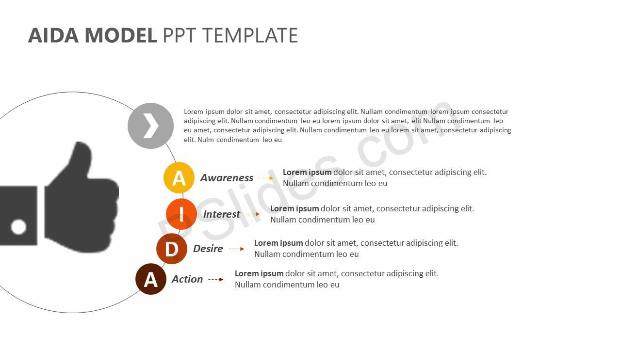 AIDA Model PPT Template Slide4