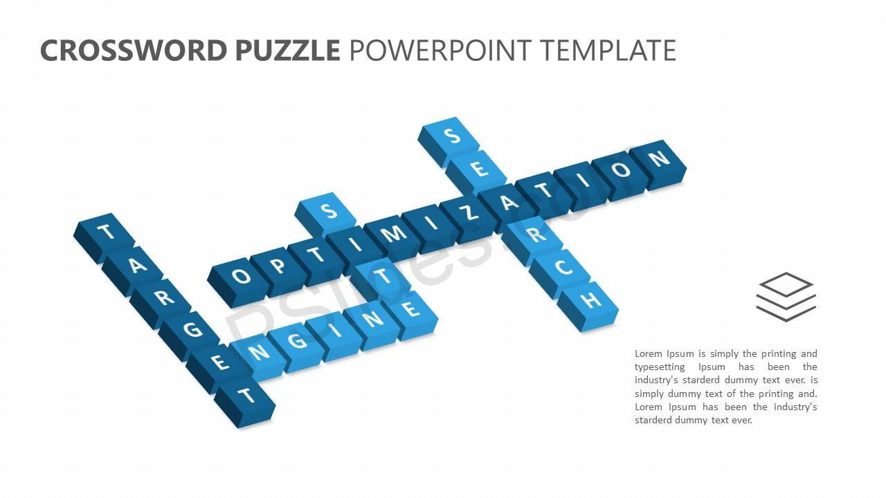 Crossword Puzzle PowerPoint Template Slide1