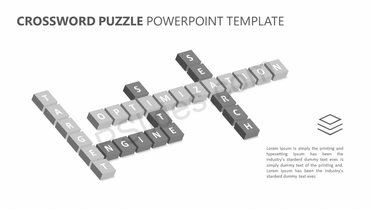 Crossword Puzzle PowerPoint Template Slide2