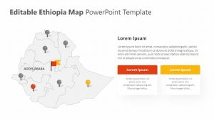 Editable Ethiopia PowerPoint Map