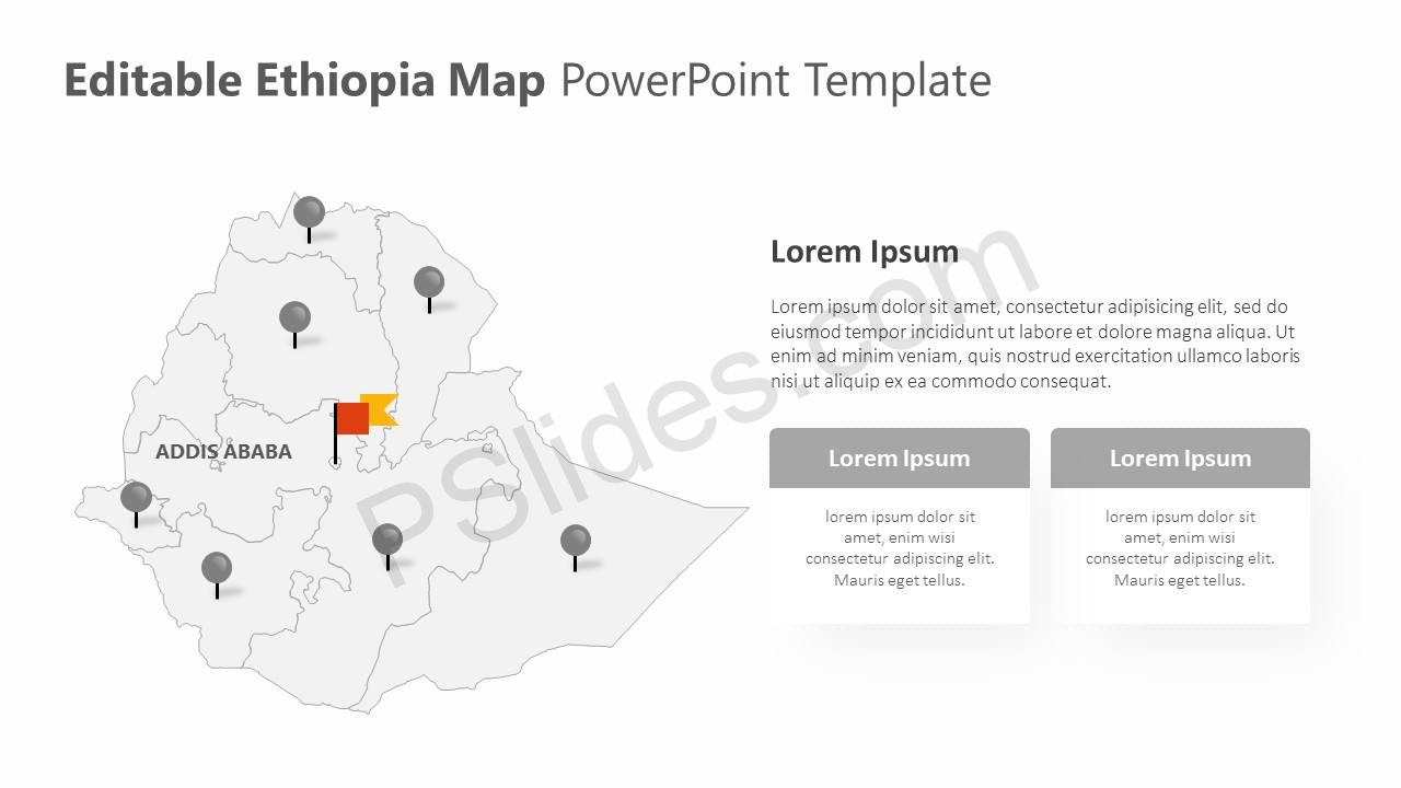 Editable Ethiopia PowerPoint Map Slide3