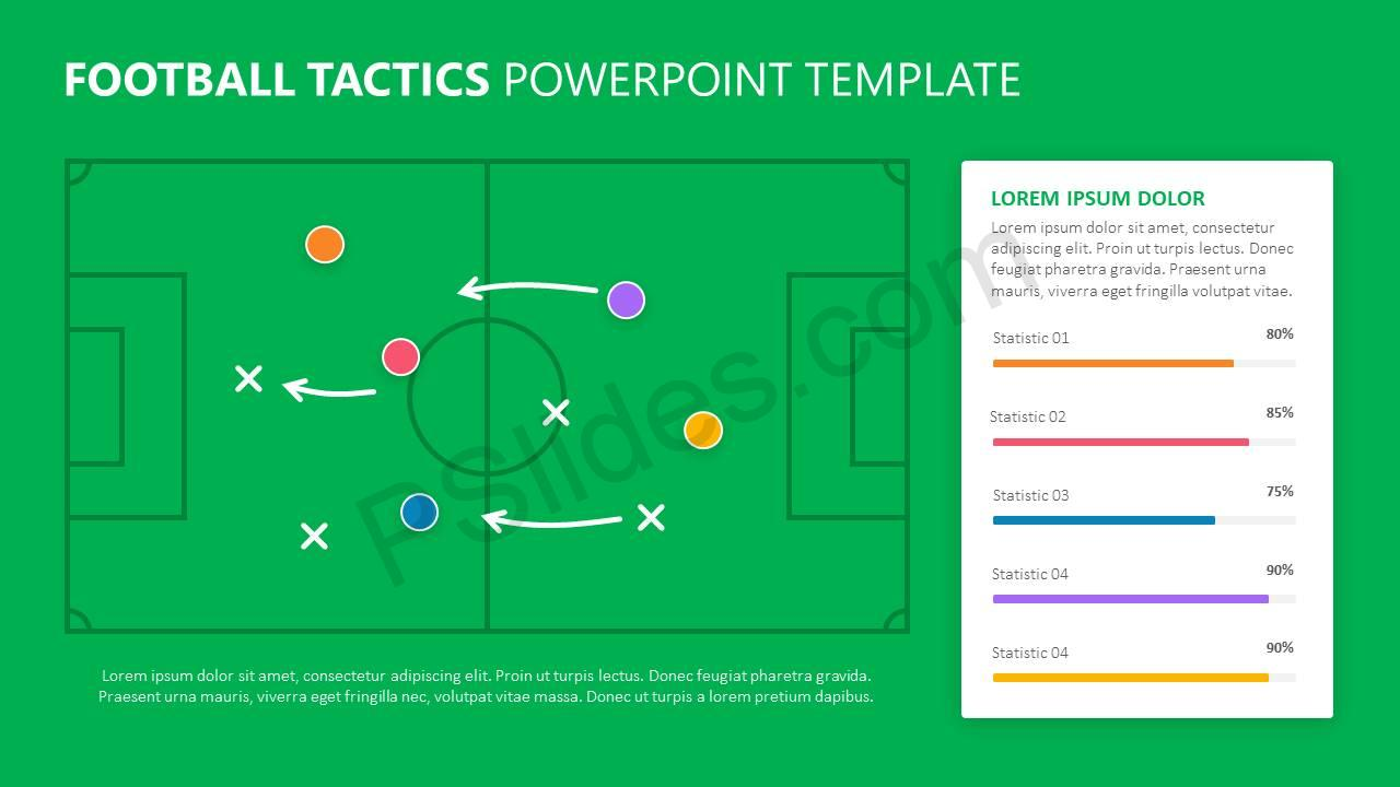 football tactics powerpoint template pslides