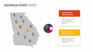 Georgia State PowerPoint Map