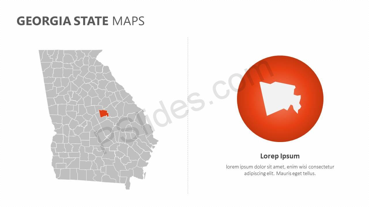 Georgia State PowerPoint Map Slide4