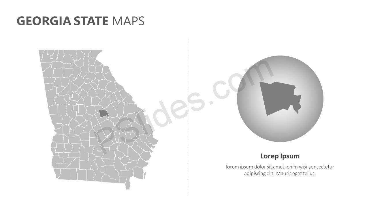 Georgia State PowerPoint Map Slide5