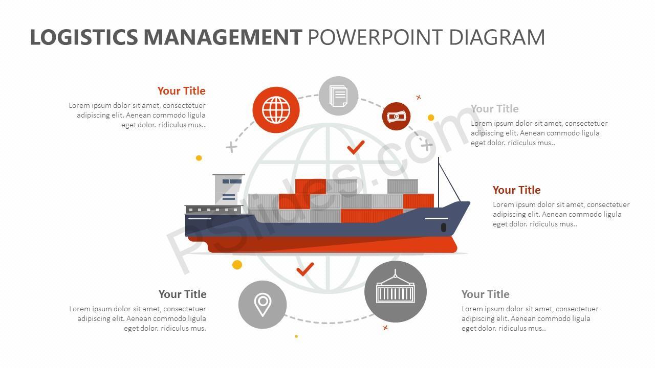 Logistics Management PowerPoint Diagram (1)