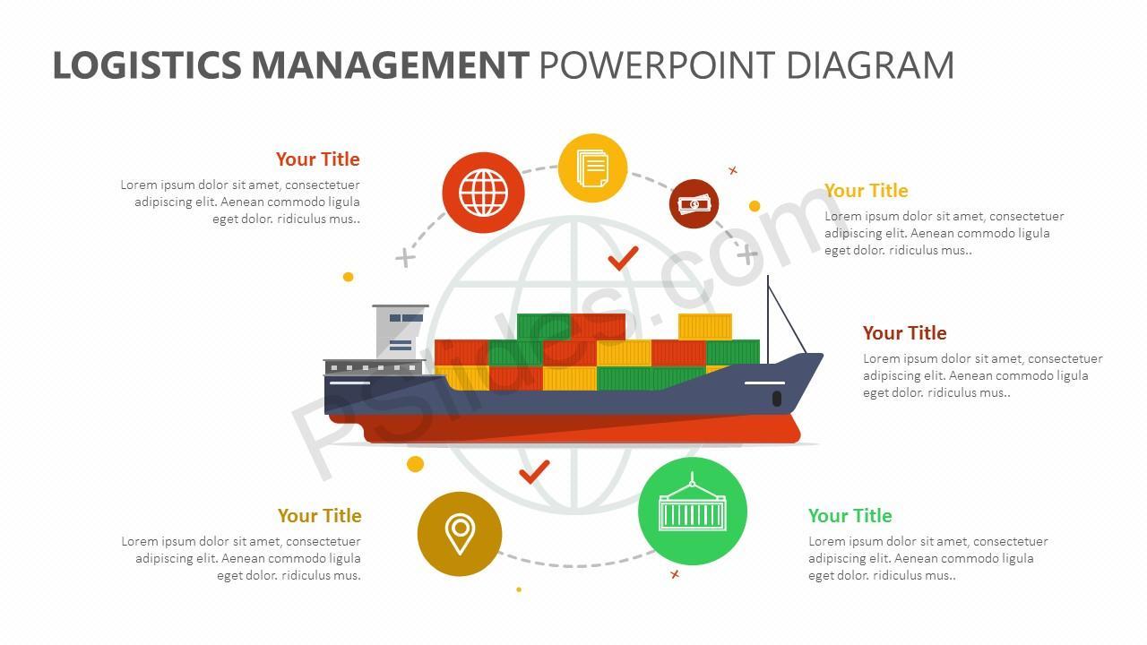Logistics Management PowerPoint Diagram (2)