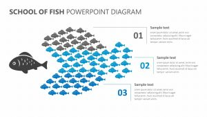 School of Fish PowerPoint Diagram