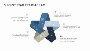 5 Point Star PPT Diagram