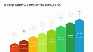 8 Step Arrows Pointing Upwards
