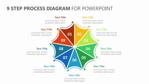 9 Step Process Diagram for PowerPoint