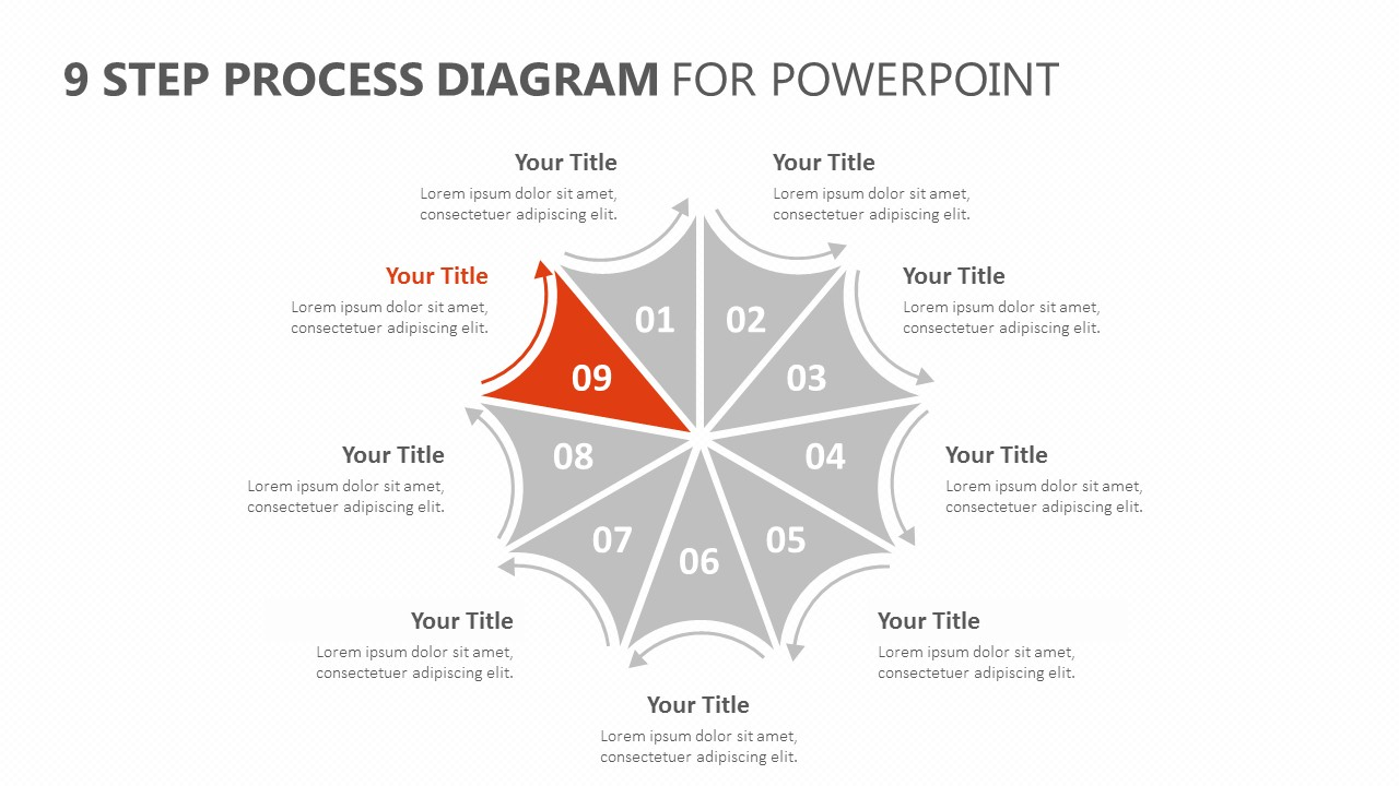 9 Step Process Diagram for PowerPoint (3)