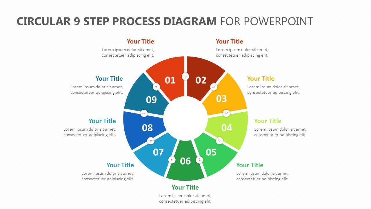 Circular 9 Step Process Diagram for PowerPoint (1)