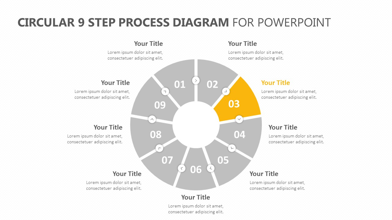 Circular 9 Step Process Diagram for PowerPoint (2)