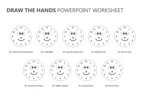 Draw the Hands PowerPoint Worksheet