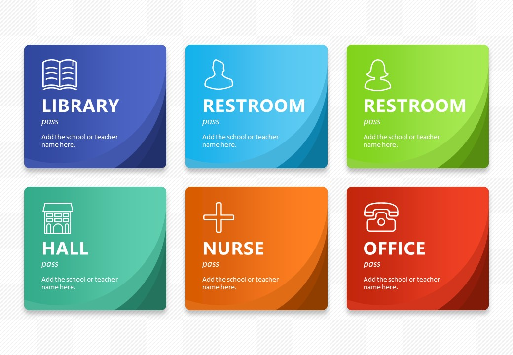 Editable Hall Pass Cards