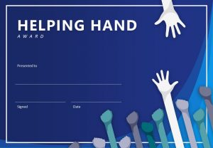 Helping Hand PowerPoint Certificate